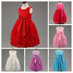 Бабочка  Красивое, нарядное шифоновое платье длпринцессы 4 цвета