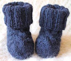 Носочки из шерсти ламы альпаки