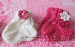 Носочки пуховые с мериносом