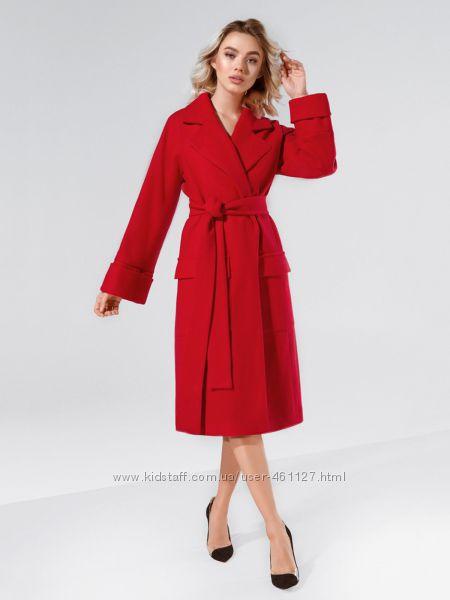 Классическое красное пальто Gepur