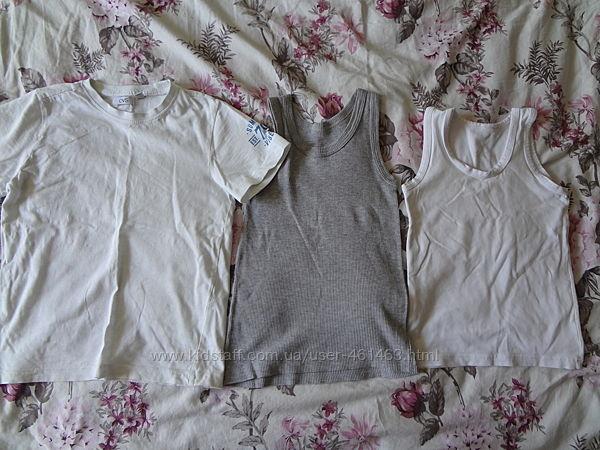 2 майки и футболка на р.122 см