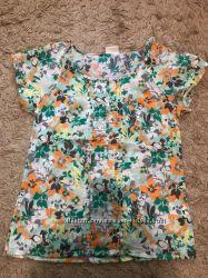 Летняя блуза в цветочный принт
