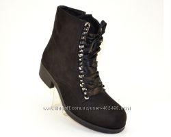 Модные осенние замшевые ботинки с лентами K97, 536 грн. Женские ... e0ef37e9b56