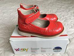 Woopy orthopedic туфли девочке, кожа, 28 размер.