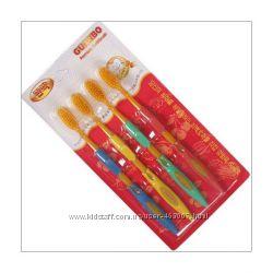 Бамбуковые зубные щетки Nano Gold, 4шт в упаковке