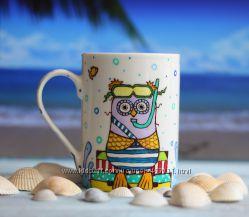 Ручная роспись чашки Настроение I need vitamin sea