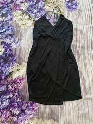 Boohoo чёрное платье на запах