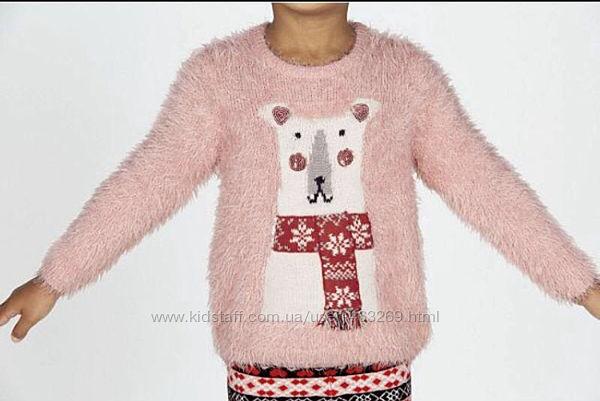 Пушистый свитер травка Lupilu