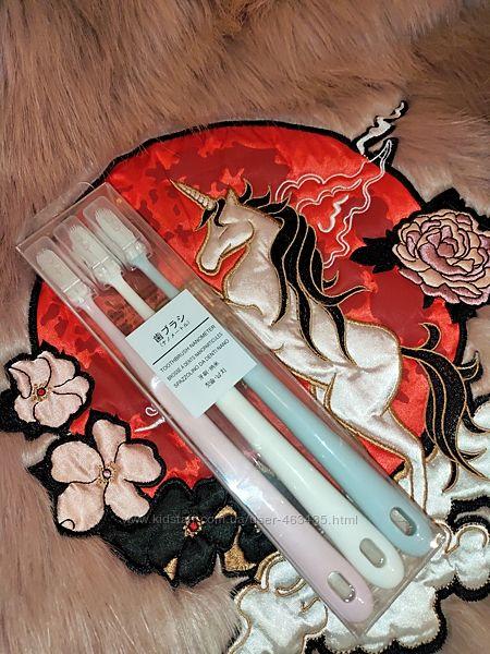Набор японских силиконовых зубных щеток 3 шт.
