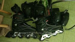 Роликовые коньки мужские ReAction 44 размер  защита