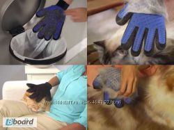 Перчатка для вычёсывания шерсти