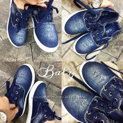 Кеды, джинс, новые