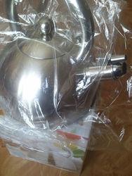 Экологический Чайник 2, 5 л. индукция - нержавейка без бакелита на подарок