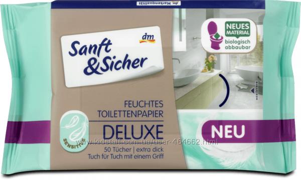 Sanft & Sicher Feuchtes Toilettenpapier  влажная туалетная бумага 50 шт