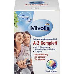 Витамины Das gesunde Plus A-Z Komplett 100 tab Германия
