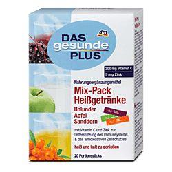 DAS Gesunde PLUS Mix-Pack  горячий напиток с витаминами от простуды 20 шт.
