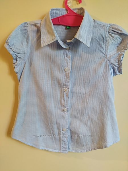 Блузка школьная Benetton для девочки 4-5 лет. Рост 110