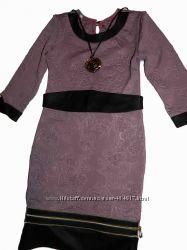 Стильные трикотажные платья в наличии р. 128-140