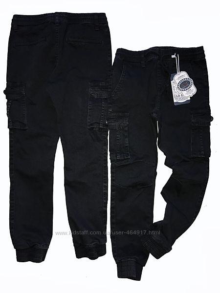 Котоновые брюки джоггеры с накладными карманами