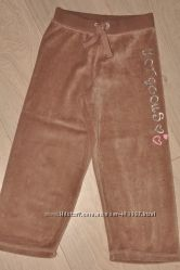 Спортивные велюровые штаны для девочки 5-6 лет  Primark