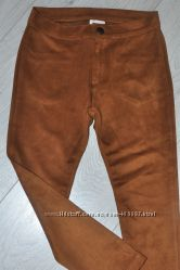 Брюки скинни для девочки 5-6 лет коричневого цвета Zara
