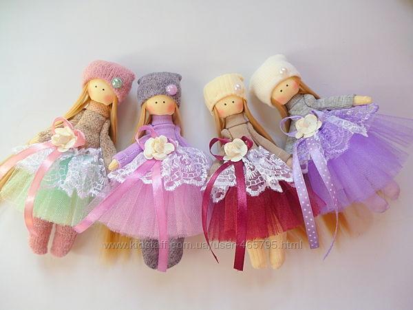 куклы ручной работы, мини кукла, кукла из ткани, тильда, балерина, ангелочк