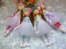 куклы ручной работы, кукла из ткани, тильда, балерина, ангелочки, мягкая кукла
