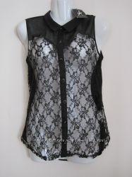 Блуза нарядная кружево длинная спинка Atmosphere оригинал новая M