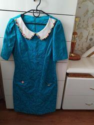 Шикарное голубое платье с камнями just rich class оригинал