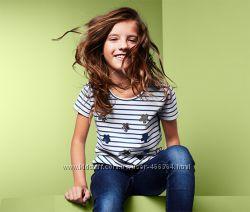 футболки для девочек из паетокTCM TCHIBO