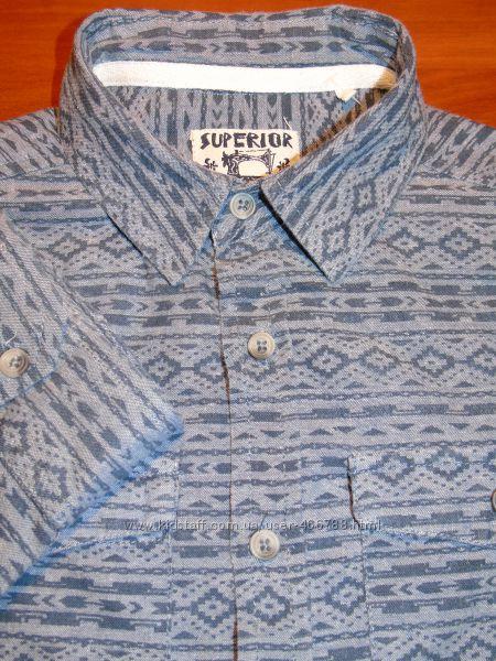 Шикарная рубашка на мальчика подростка в школу   9 - 12 лет