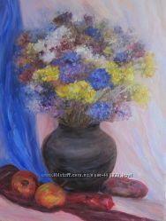 Картина Осенний натюрморт, холст, масло, 35 на 45 см