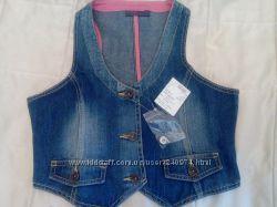 жилетка джинсовая для девочки