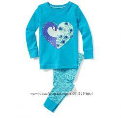 Хлопковая пижама для девочки с единорожками, бренд 5т, 4т