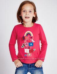 Реглани - лонгсліви MARKS&SPENCER, для дівчинки, 6-7 років