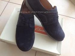 Замшеві туфлі, напівчеревики, мокасіни Clarks, розмір 40, 5