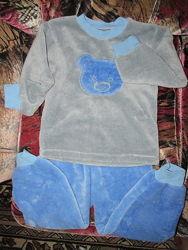 Тепла піжама на хлопчика 4-5-ти років