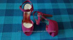 Туфли босоножки малиновые новые Gorgeous new look Р. 39, 5-40 ст. 26см