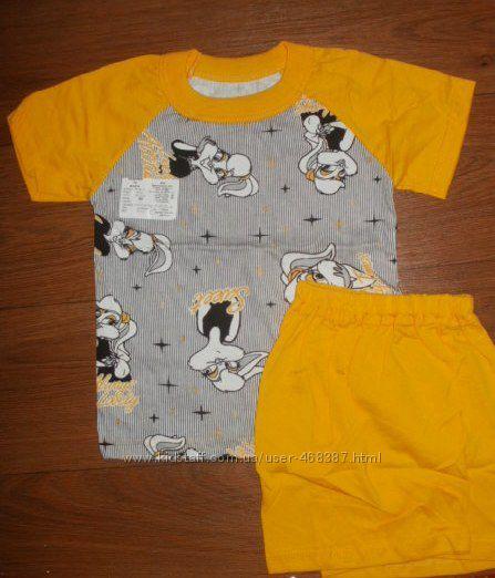 Скидка Комплект футболка-шорты рост 104-110
