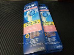 4шт oral-b sensitive clean насадки на электрическую щетку