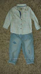 Рубашка для мальчика M&S р 12-18 мес