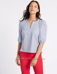 Блуза в полоску Marks & Spencer р 14