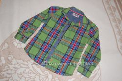 Стильная зеленая рубашка NEXT Brand 4-6 лет 110р.