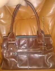 стильна коричнева сумка шкіра