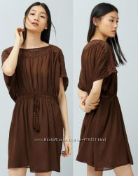 стильна темно коричнева сукнятуніка нова бірки Mango S
