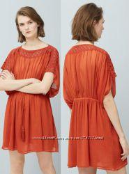 стильна морквяна сукнятуніка нова бірки Mango S