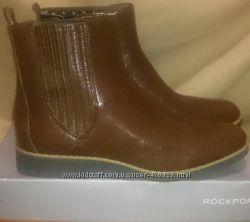 Стильні коричневі ботильйони нат шкіра р39 нові оригінал rockport adiprene