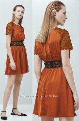 Стильна коричнева сукня мереживо mango s нова бірки