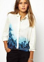 Стильна біла блуза s та м liva girl нова бірки
