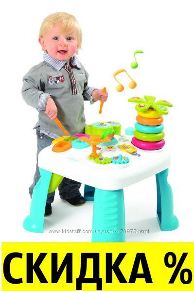 Развивающий игровой столик Цветочек  Cotoons Smoby Франция 211170, 211169